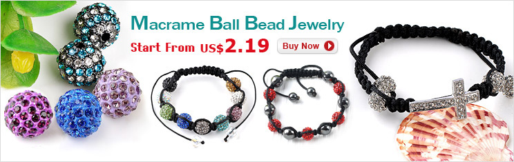 Macrame Ball Bead Jewelry