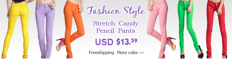 stretch candy pencil pants